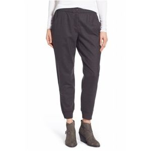 EILEEN FISHER charcoal wool slouchy joggers NWT M
